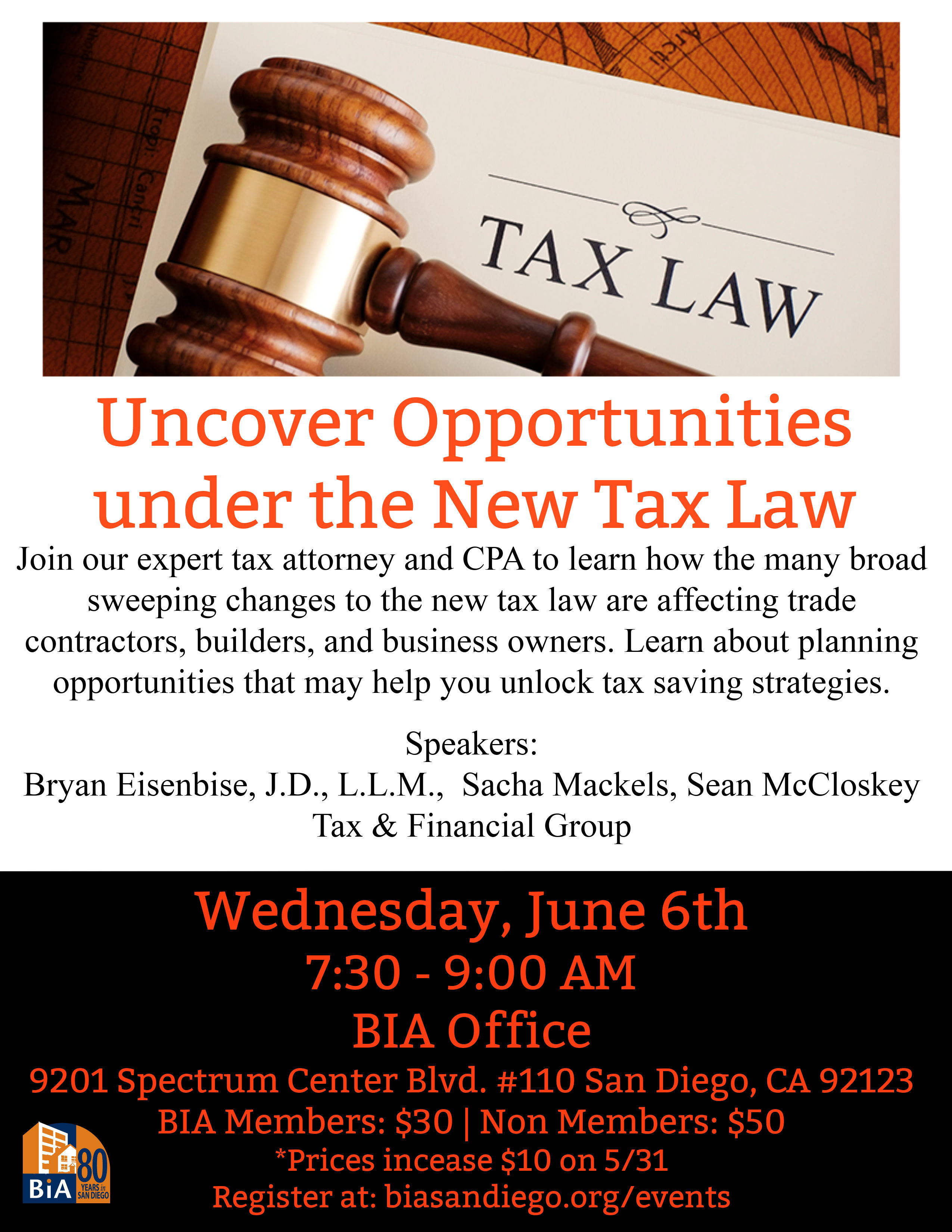 Uncover Opportunities under the New Tax Law Seminar – Building ...